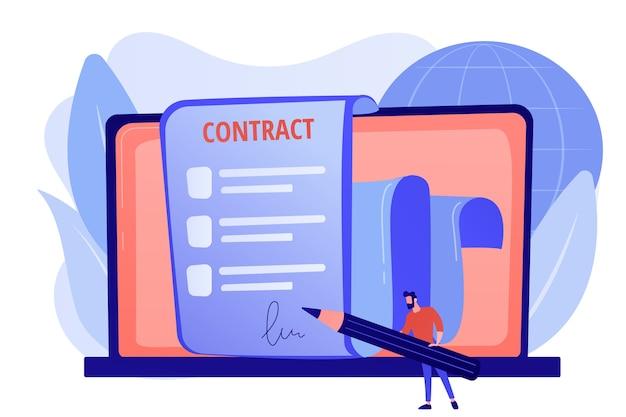 ビジネス契約。法的取り決め。従業員の雇用