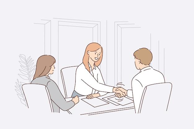 비즈니스 계약 또는 모집 개념