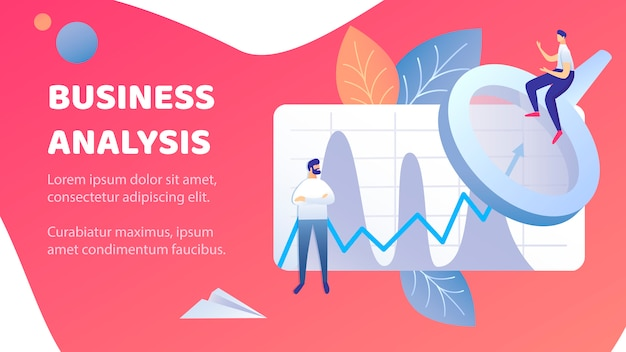 Business analysis abstract banner vector template