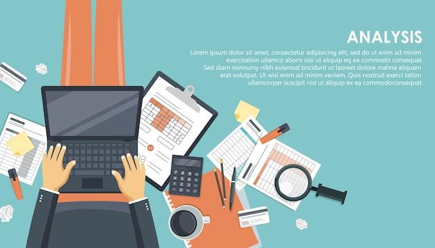 Business analysis and analytics concept Premium Vector