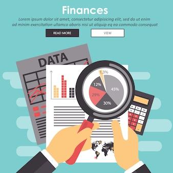 ビジネス分析。財政