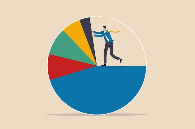 비즈니스 분석, 투자 자산 배분 또는 경제 통계 개념.