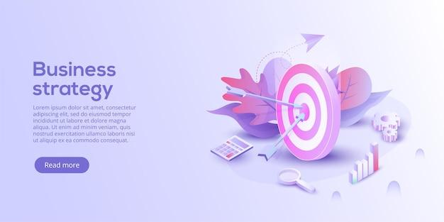 Бизнес-анализ изометрические векторные иллюстрации