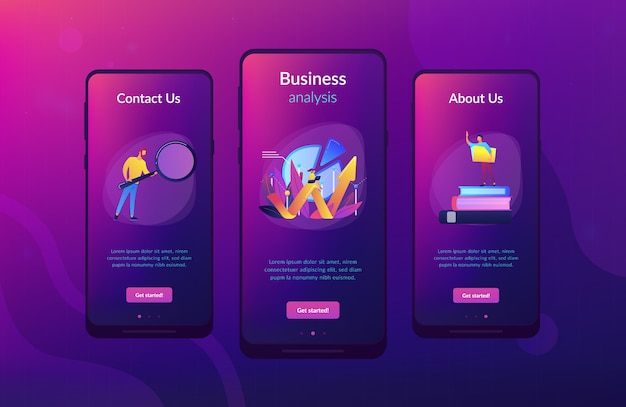 Business analysis it app interface template