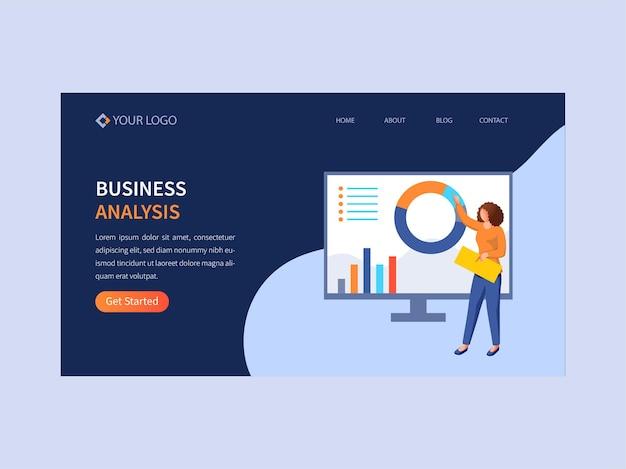 Дизайн целевой страницы для бизнес-анализа