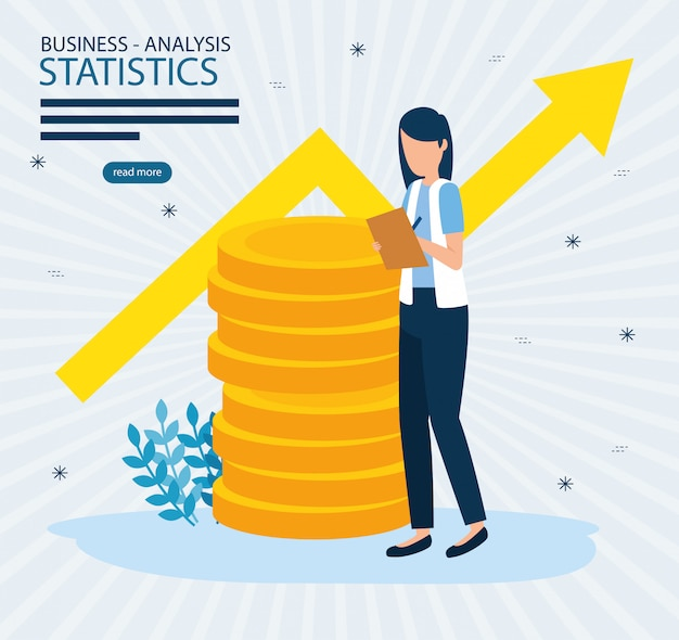 Business analysis statistics vector design