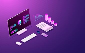 ビジネス分析システムWeb開発コンセプト。