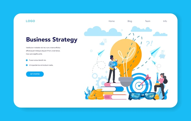 Business analyst web banner or landing page