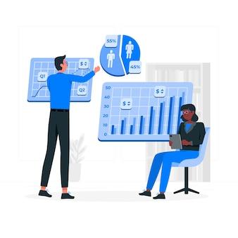 Illustrazione di concetto di analitica aziendale