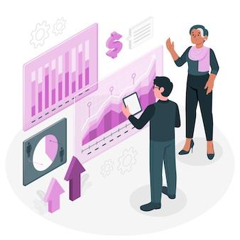 Иллюстрация концепции бизнес-аналитики