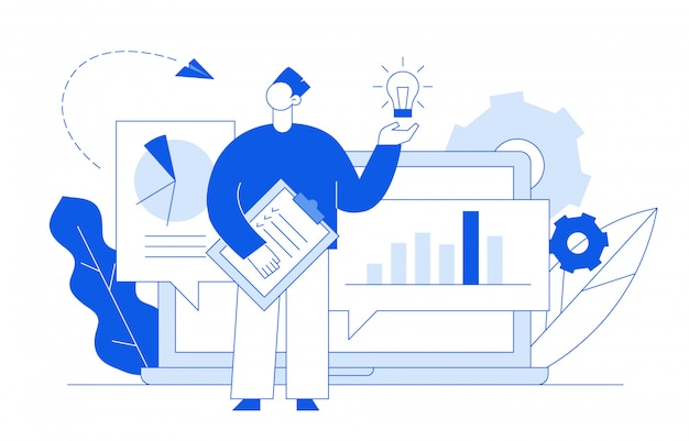 Business analytics and idea concept