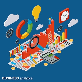 Business analytics vector concept illustration