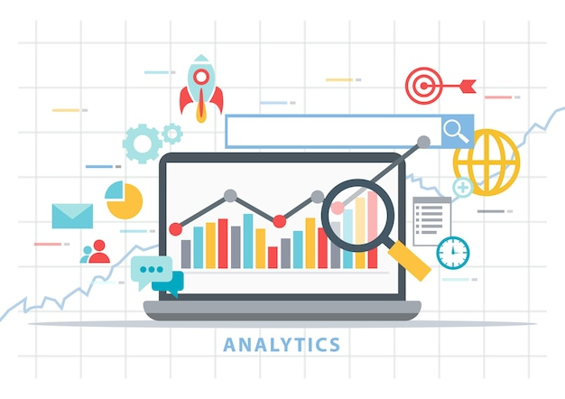 Business analytics vector