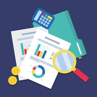 ビジネスと監査の図