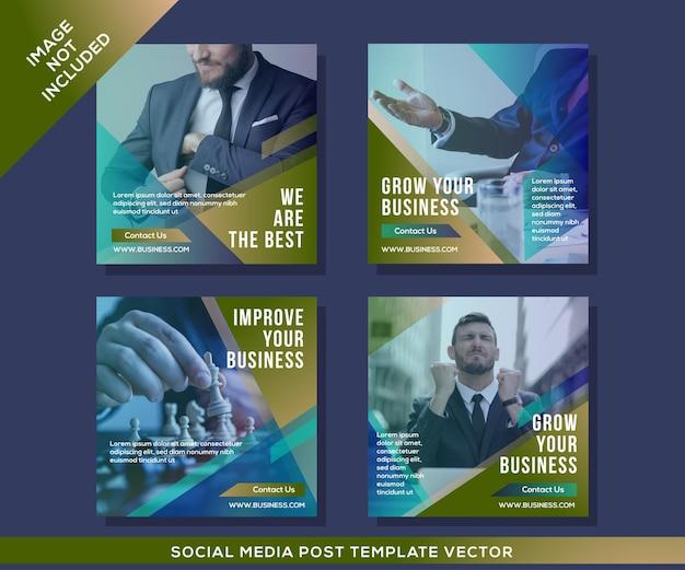ビジネスおよび企業のソーシャルメディア投稿テンプレート