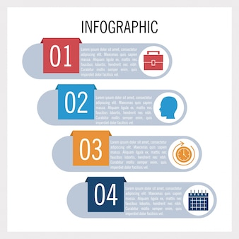 ビジネスと教育のインフォグラフィック