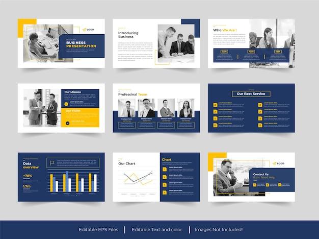 비즈니스 및 관리 슬라이드 프레젠테이션 템플릿