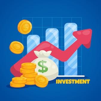 비즈니스 및 시장 개념