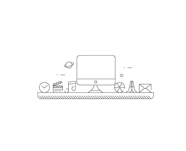ビジネスとプロモーション。フラットスタイルのカラーバナー。広告バナーのデザイン。