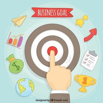 Бизнес и целевые иконки фон