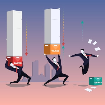 Иллюстрация бизнеса и налогообложения