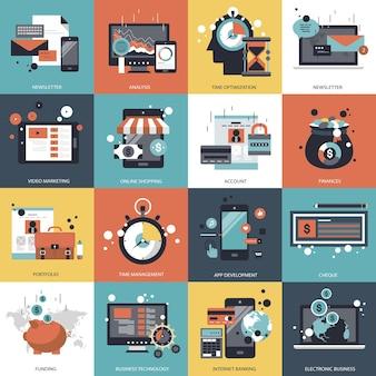 ビジネスとテクノロジーのセットの図
