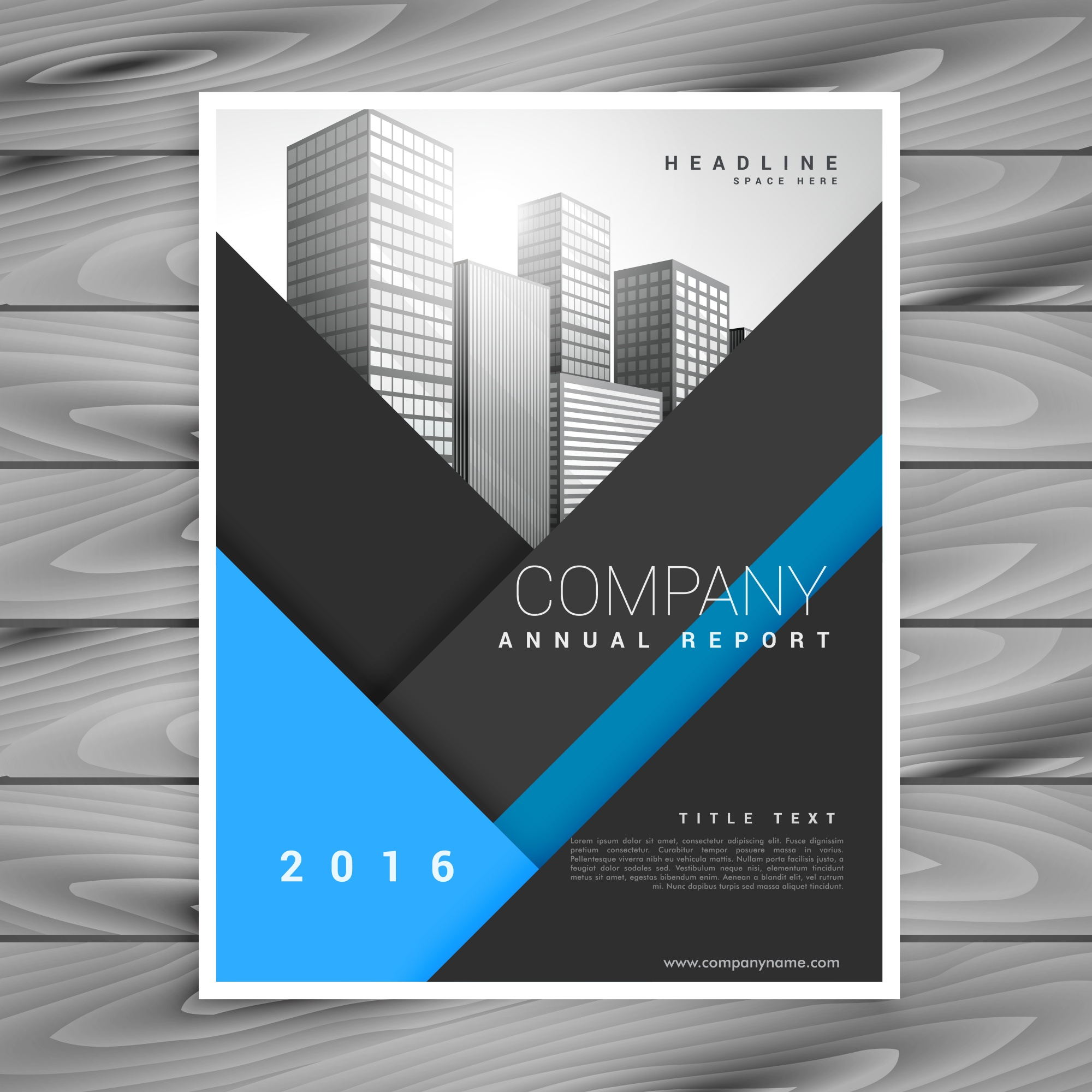 Business annual report brochure design