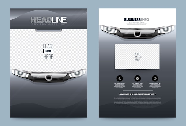 Business annual report brochure flyer design template