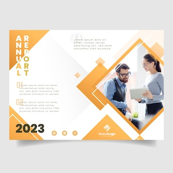 Business annual report magazine template
