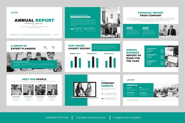 Business annual report presentation slide design