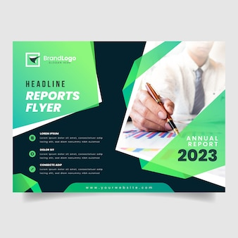 Business annual report template concept