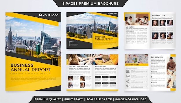 Business annual report template design