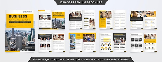Бизнес годовой отчет шаблон минималистский стиль