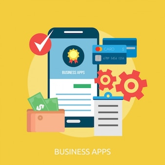 Business apps background design