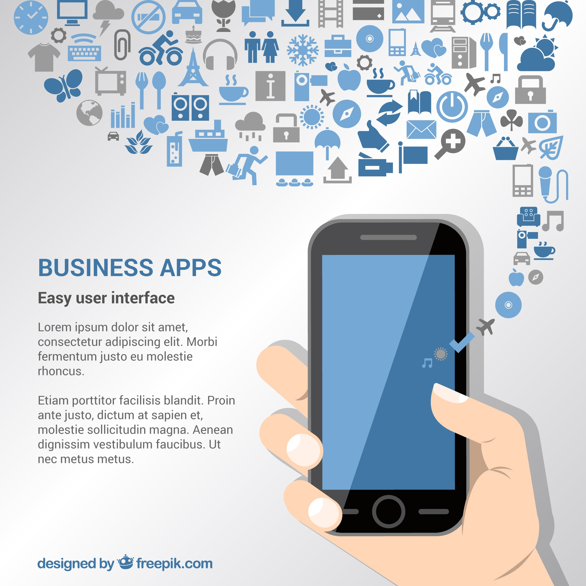 Business apps background
