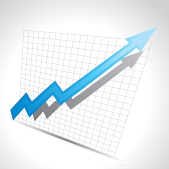 Business arrow showing growth progress