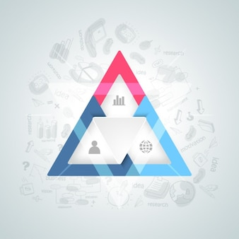 Business background with colorful triangle