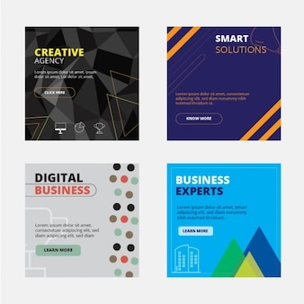 Business backgrounds collection