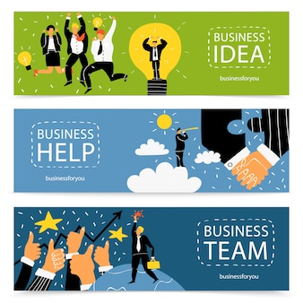 Business banner set