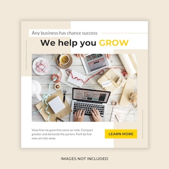 Business banner social media template