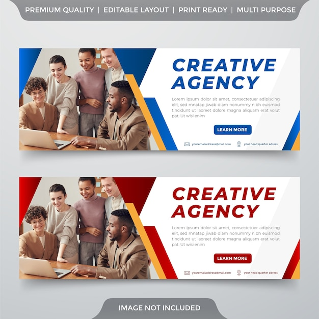 Business banner template premium style