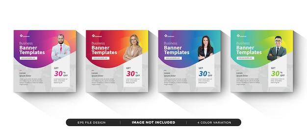 Business banner template set