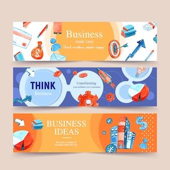 Набор шаблонов бизнес баннер