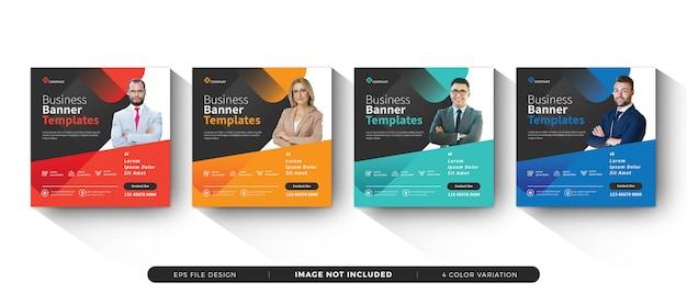 Business banner template social media set