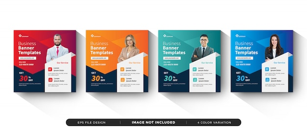 Business banner template social media