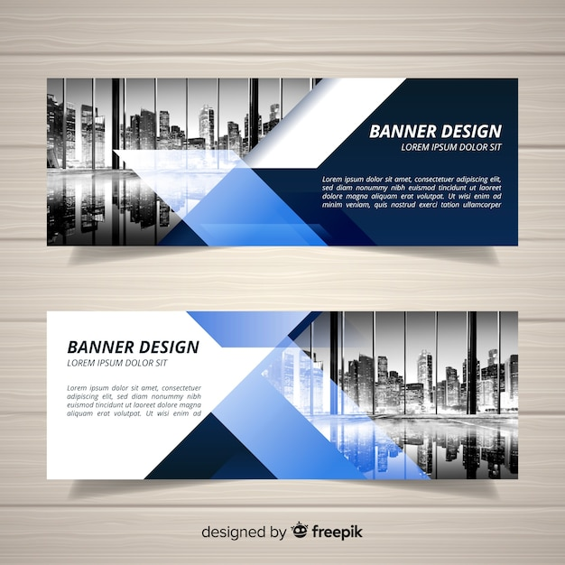 Free Business Banner Template With Image Svg Dxf Eps Png