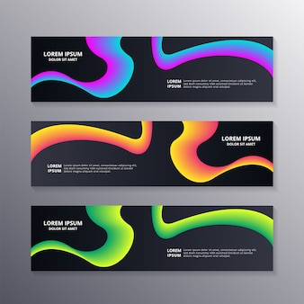 Business banner template with waves