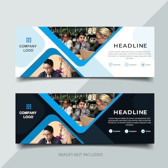 Business banner with modern style