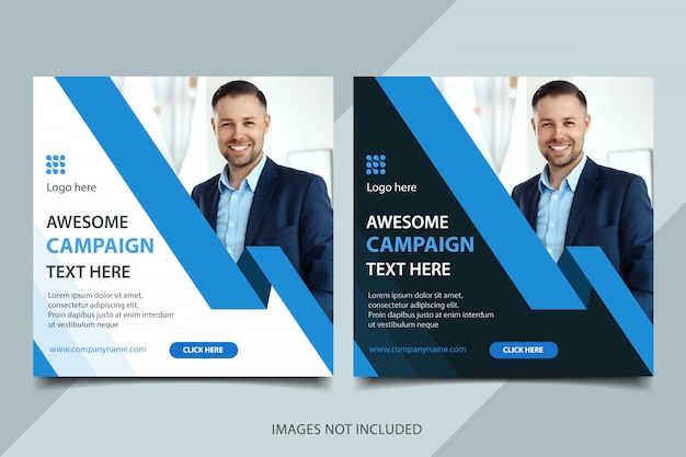 Business banner with photo