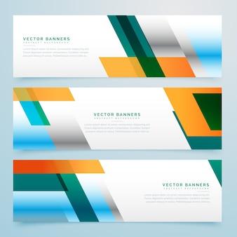 Бизнес-баннеры набор абстрактного фона
